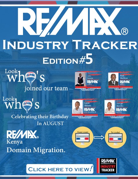 RE/MAX Kenya Industry Tracker - July 2016